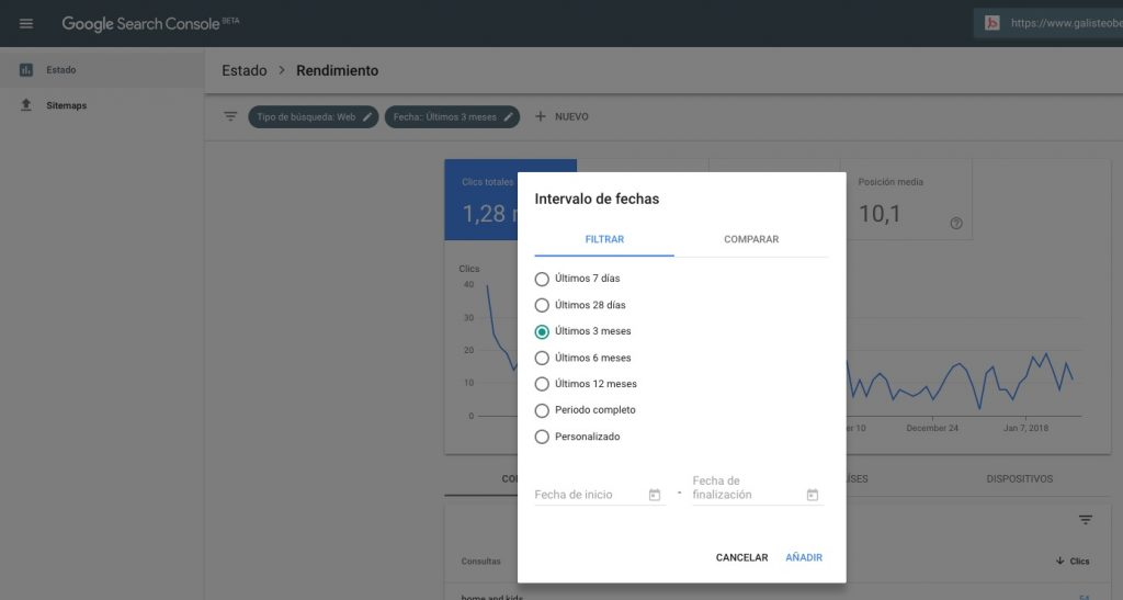 Nuevo Search Console Beta