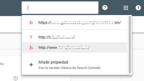 Proyectos en Search Console Beta